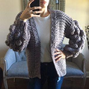 Sweaters - 🚨BUY 2 GET 1 FREE!🚨 ✨ Pom Pom Grey Cardigan